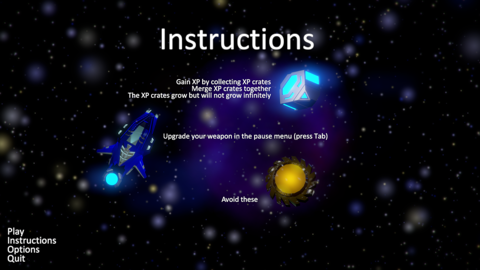 Instructions Menu